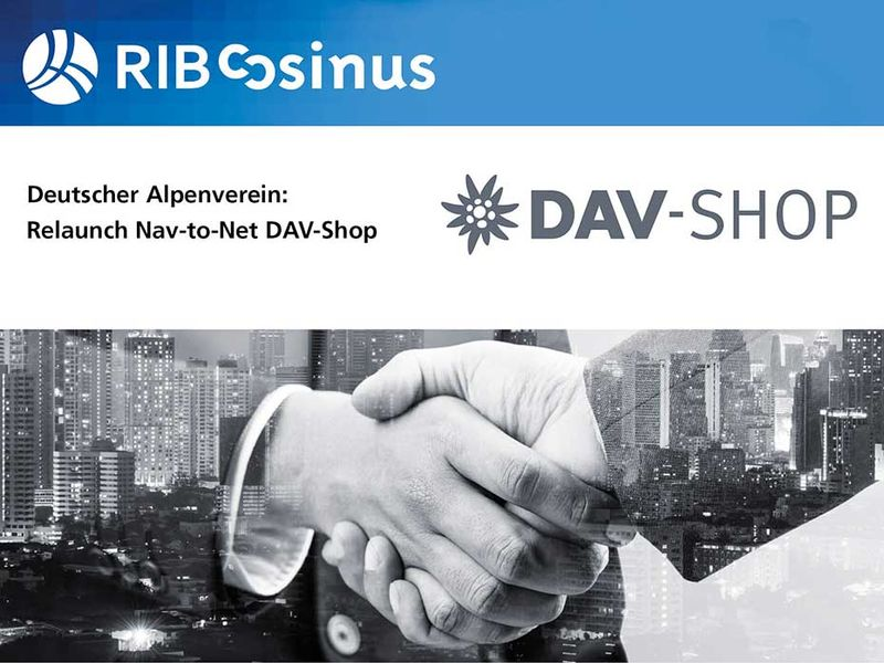 Relaunch Deutscher Alpenverein Nav-to-Net DAV-Shop