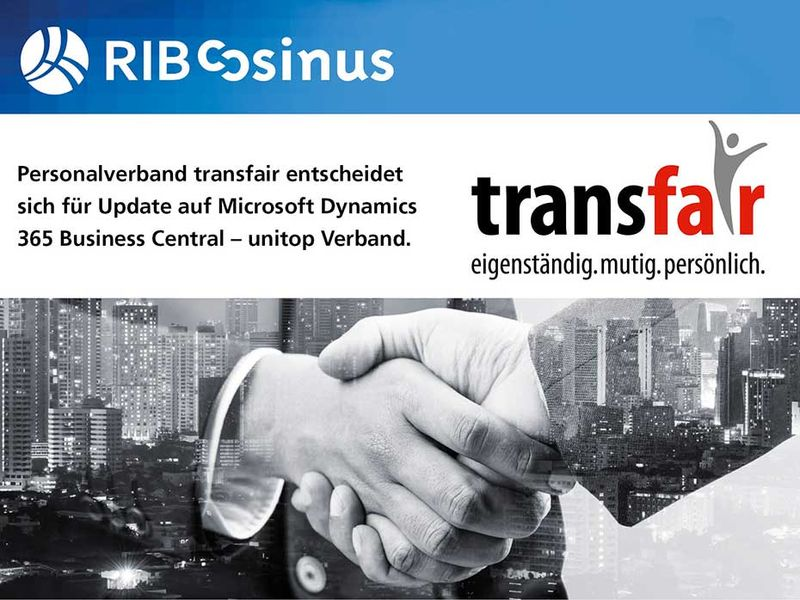 Update Microsoft Dynamics 365 Business Central Gewerkschaft transfair